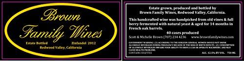2012 Brown Family Wines Estate Zinfandel