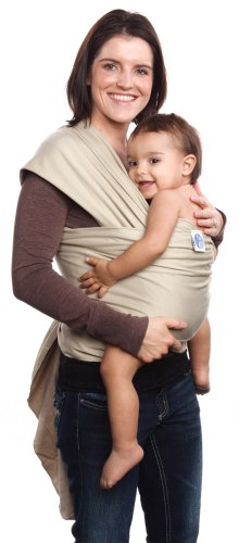 Moby Wrap UV SPF 50+ 100% Cotton Baby Carrier, Sand