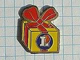 限定レア美品ピンズ◆赤リボンのプレゼント箱フランスピンバッジ