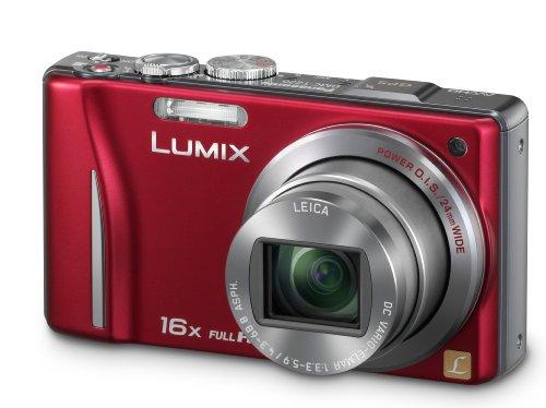 Panasonic Lumix TZ20 Digital Camera - Red (14.1MP MOS, 16x Optical Zoom) 3 inch Touchscreen LCD