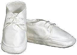 Boy Silk Shoe, White, 00 (NB - 6 wks)