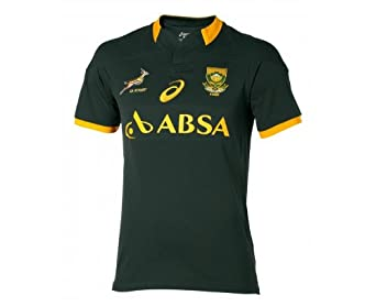 Click here to buy ASICS Springboks Home 2014 Supporters Mens Rugby Jersey by South Africa Springboks.