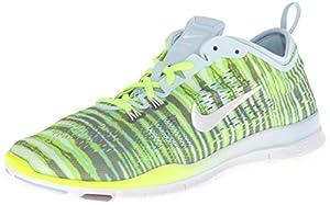 Nike Women's Free 5.0 TR Fit 4 Print Antarctica/Volt/Purple Steel/White Sneaker 9 B - Medium