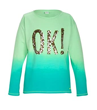 S.Oliver - Sweat - Shirt - Manches Longues Fille - Vert - Grün (Light Green) - FR : 14 ans (Taille Fabricant : L) (Brand size: L)