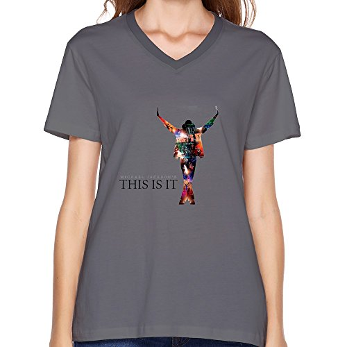 KaiOu Women's Michael Jackson V-Neck T-Shirt