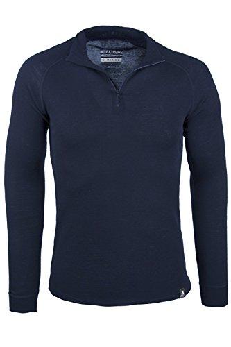 mountain-warehouse-maglia-a-collo-alto-con-zip-a-maniche-lunghe-da-uomo-talus-blu-navy-x-large