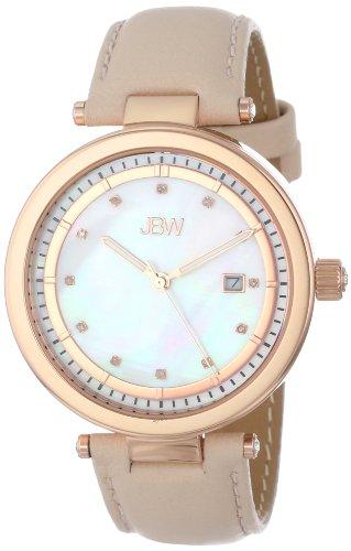 JBW J6275B - Reloj para mujeres, correa de cuero