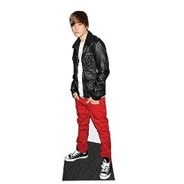 Justin Bieber con chaqueta de cuero - Figura de cartón a tamaño real
