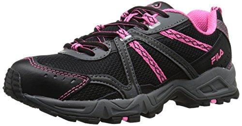 Fila Women's Ascent 12 Trail Runner, Black/Sugarplum/Castle Rock, 8 M US