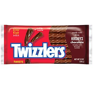 Twizzlers Chocolate Licorice Twists, 5-Ounce