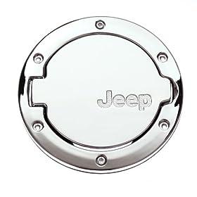 Moonet 2007 2008 2009 2010 2011 2012 2013 Jeep Wrangler JK 2 4 Door Chrome Finish Fuel Filler Door Cap