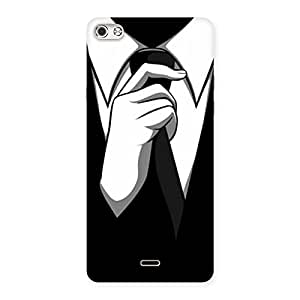 Premium Tie Knot Back Case Cover for Micromax Canvas Silver 5