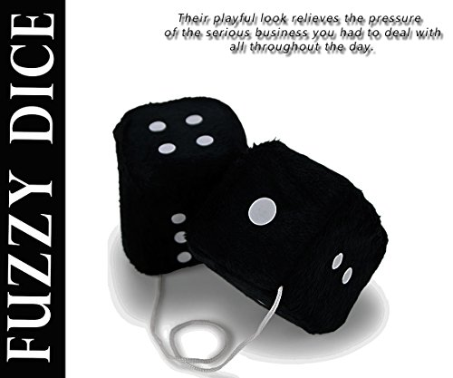 Zone-Tech-Black-Hanging-Dice-A-Pair