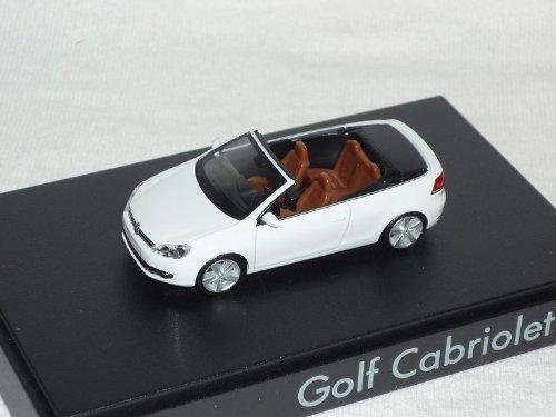 VW Volkswagen Golf Vi 6 2011 Cabrio Cabriolet Weiss Ho H0 1/87 Herpa Modellauto Modell Auto
