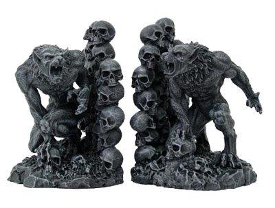 Werewolves & Skulls Fantasy Set of Bookends
