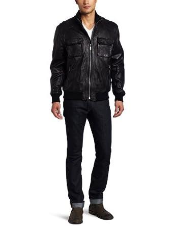 (新低)Michael Kors Men's Hoover Leather Jacket男式真皮夹克$206.99