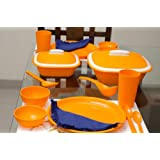 Cutting EDGE Solitaire BPA free dinner set for 4. Set consists of 4 dinner plates, 4 big bowls, 4 small bowls,...