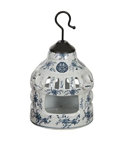 Winward Chinese Birdhouse, Blue/White