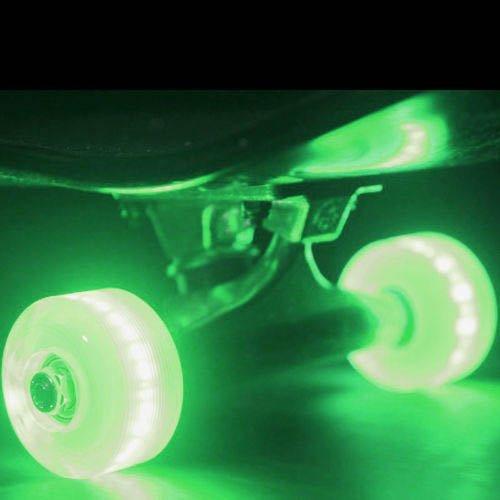 Led Skateboard Wheels Sunset Flare 54Mm Green Light Up