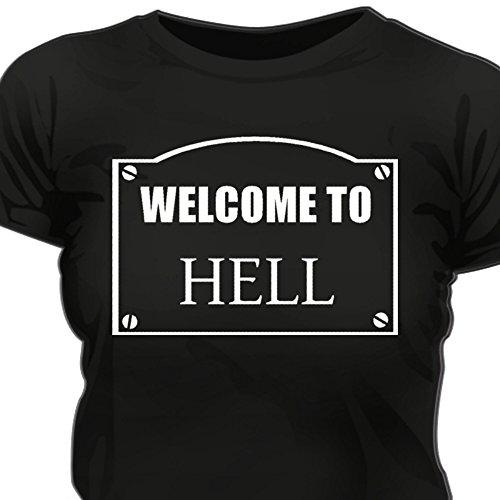 Creepyshirt - WELCOME TO HELL WOMAN T-SHIRT - XXL