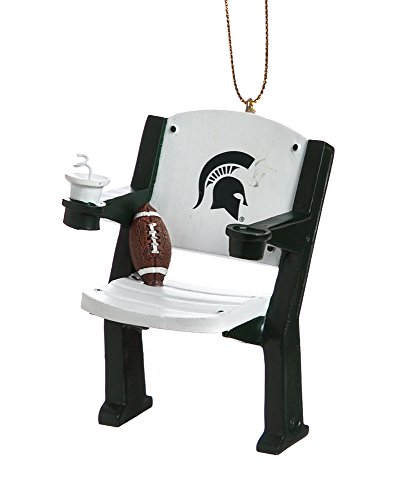 Michigan State Spartans Official NCAA 4 inch x 3 inch Stadium Seat Ornament