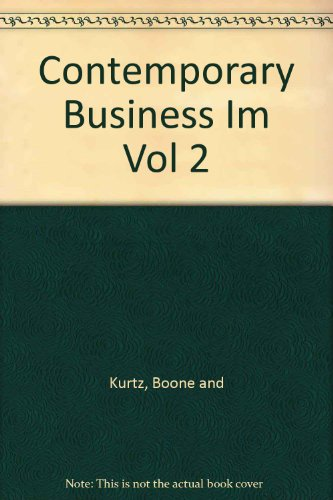 Contemporary Business Im Vol 2