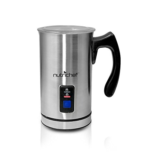 Fantastic Deal! NutriChef PKMFR10 Electric Milk Frother and Warmer, Stainless Steel