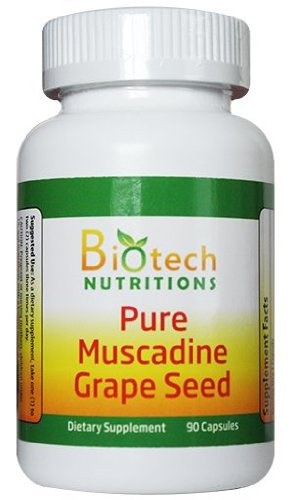 Muscadine Grape Seed 100% Pure Muscadine Grape Seed 90 capsules per bottle 650mg per capsule (Nature Pearl Muscadine Juice compare prices)