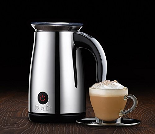 This Dualit milk frother is arguably the best product on this list and is very easy to use.
