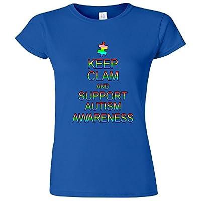 Keep Calm And Support Autism Awareness Women's Junior T-Shirt