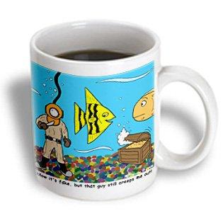 Mug_2768_1 Rich Diesslins Funny General - Editorial Cartoons - Fish Tank - Mugs - 11Oz Mug