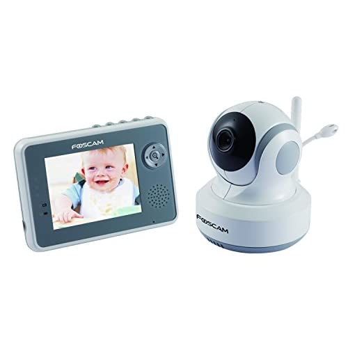 Foscam FBM3501 Digital Video Baby Monitor - 2.4 Ghz with Pan Tilt, Nightvision and Two-Way Audio Video Camera...