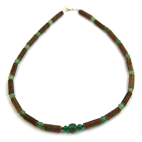 "Hazelaid (TM) Child Hazelwood-Gemstone Necklace - 11"" Green Adventurine"