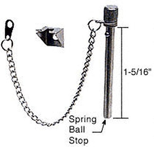 "Crl 1-5/16"" Sliding Window And Door ""Nite-Lock"" Pin With Ball Stop By Cr Laurence front-355108"