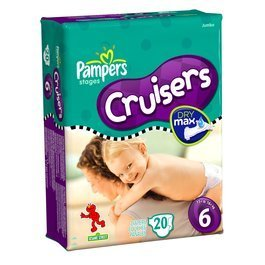 Pampers Cruisers Original Diapers - Size 6 - 20 Ct