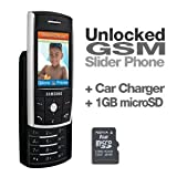 Samsung SGH-D807 Unlocked GSM Slider Phone (Cingular Branded) - Quad-Band, 1.3 Megapixel Camera, Car Charger & 1GB microSD Card Included