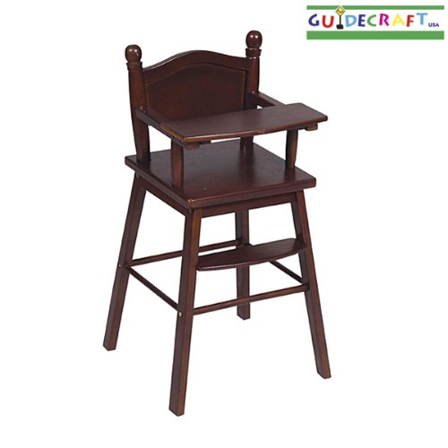 Guidecraft Doll High Chair Design: Espresso