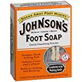 Special pack of 5 JOHNSON'S FOOT SOAP 4 ENV