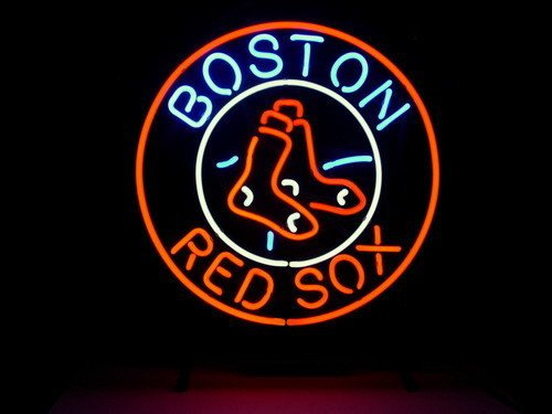 BOSTON RED SOX BASEBALL BEER BAR NEON LIGHT SIGN