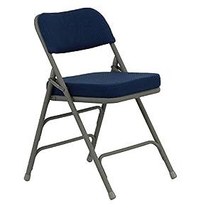 Hercules 2 1 2 Quot Padded Metal Folding Chairs Navy Amazon