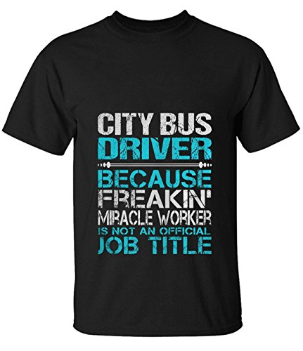 Tsuyokiss men's City Bus Driver Fitted Print Crew Neck tshirt black (Lil Roughneck compare prices)