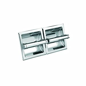 Moen 5577 Donner Hotel and Motel Double Recessed Paper Holder, Chrome