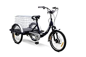 EWheels - Electric Trike Bicycle - EW-54 - Blue