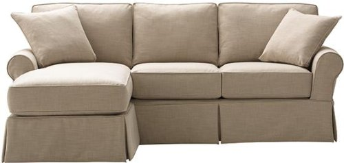 Mayfair Slipcovered Sofa With Chaise, 37Hx95Wx70D, PEARL