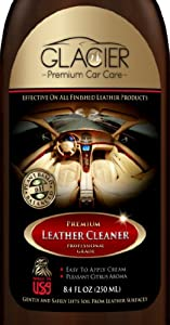 Leather Cleaner - THE BEST Natural & Professional Strength Leather Cleaner for Cars, Leather Furniture, Purses, Shoes, Boots, Saddles, Jackets, Couch, Sofa, Seats & More - Conditioner Added - 8 Oz Cream - Bonus Applicator Glove - 100% GUARANTEED!
