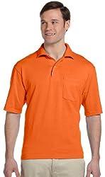 Jerzees Men's Spot Shield 50/50 Sport Shirt with Pocket