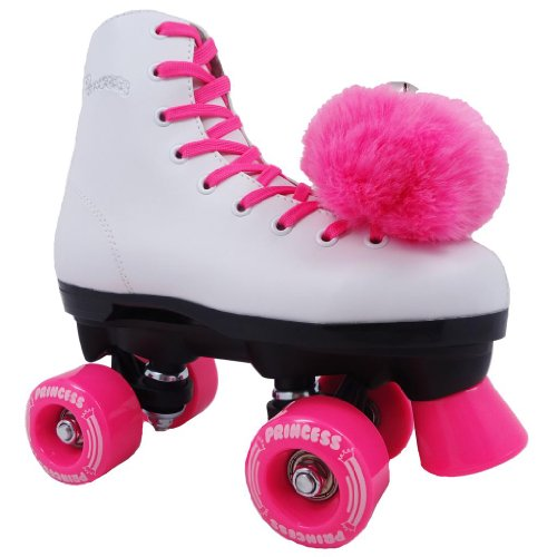 Best Deals! Epic Princess Pink Kids Beginner Quad Indoor/Outdoor Roller Skates
