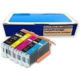 Inkjetcorner 5-Pack Compatible Ink Cartridge Replacement for Canon PGI-250XL CLI-251XL Pixma IP7220, MG5420, MX722, MX922, MG5520, MG5400, MG5422, MG6420 PGI-250 CLI-251