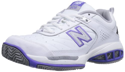 New Balance Women's WC806 Tennis Shoe,White,8 B US