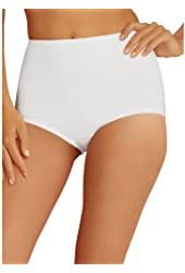 Hanes Shapers Everyday All-Over Smoothing Cotton Brief 2 Pack White